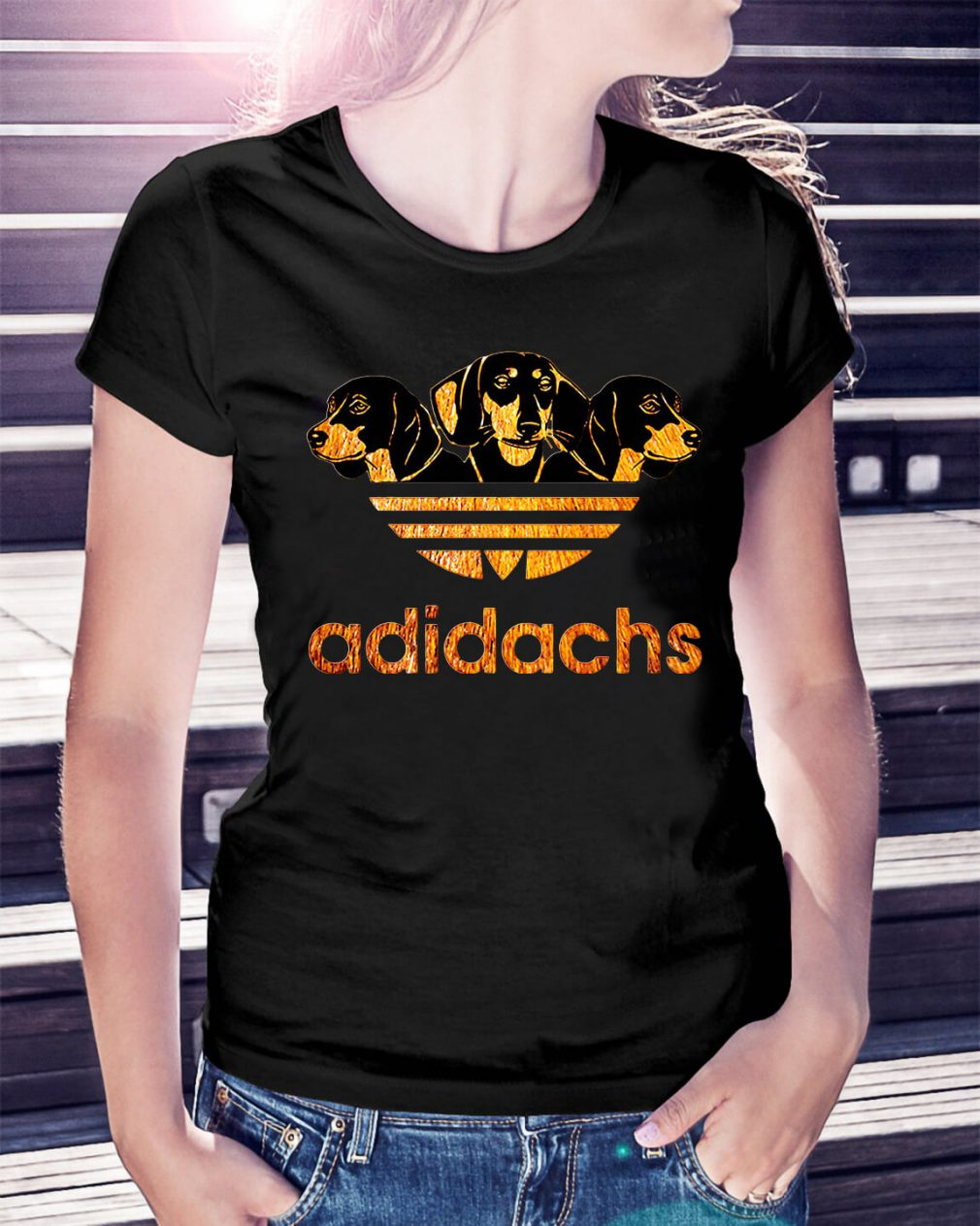 Adidachs Dachshund Adidas Ladies Tee