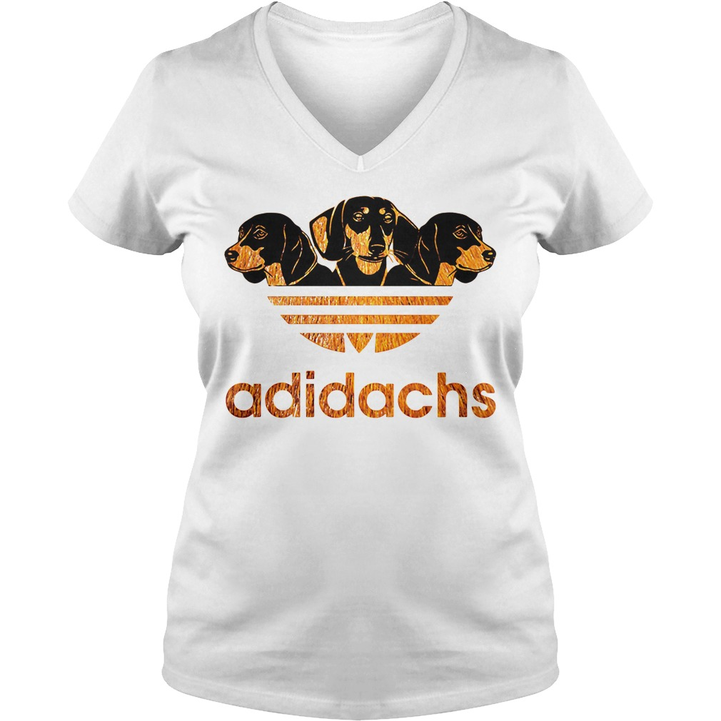 Adidachs Dachshund Adidas V-neck T-shirt