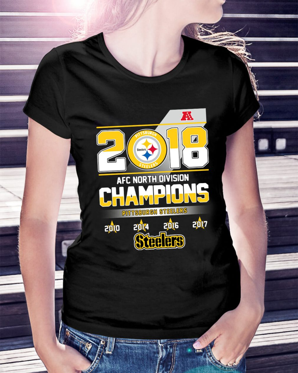AFC North Division Champions Pittsburgh Steelers Ladies Tee