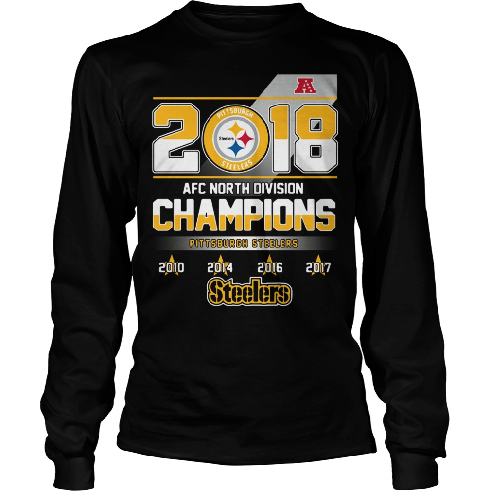 AFC North Division Champions Pittsburgh Steelers Longsleeve Tee