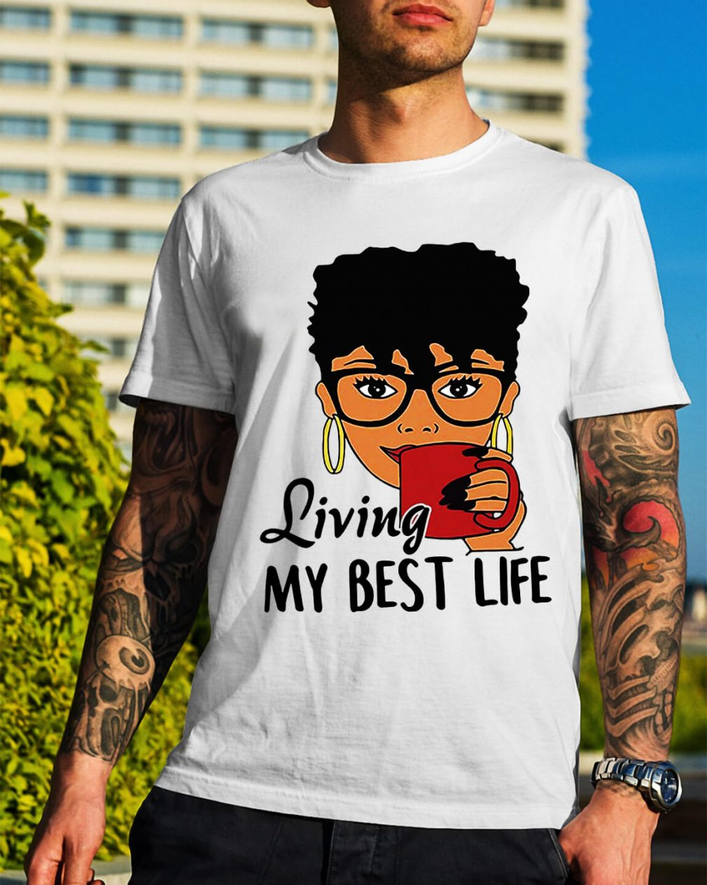 African American Living my best life shirt