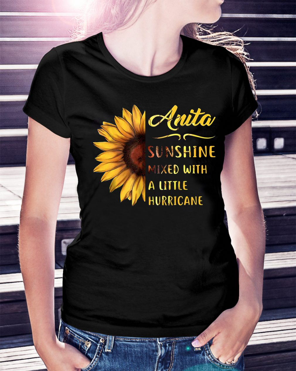 Anita sunshine mixed with a little hurricane Ladies Tee