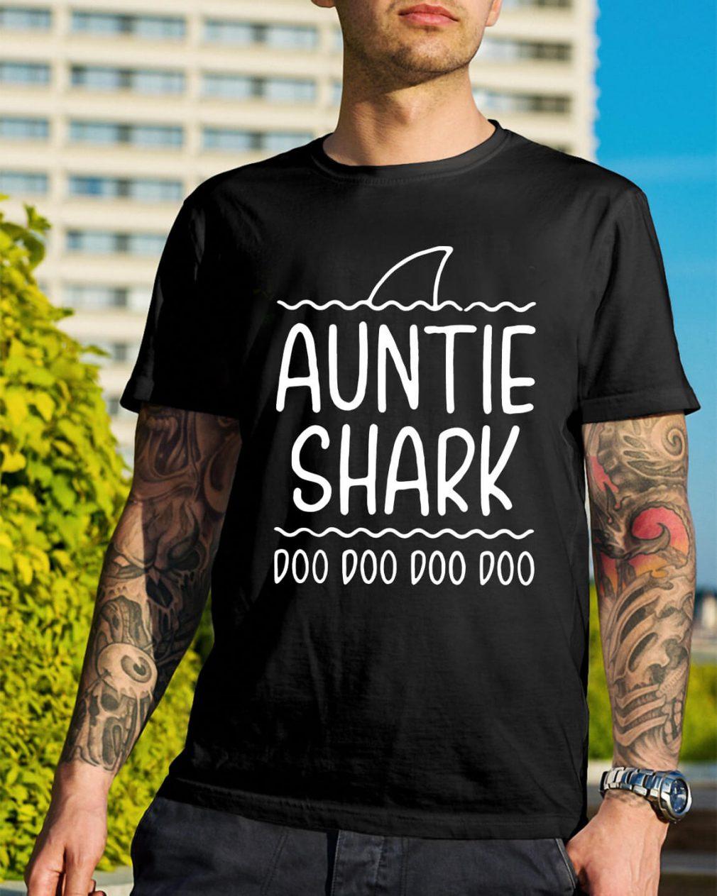 Auntie shark doo doo doo doo shirt
