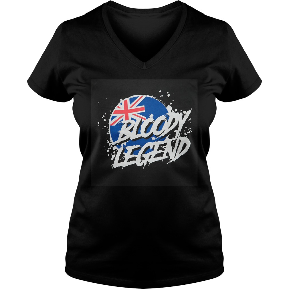 Australian Flag bloody legend V-neck T-shirt
