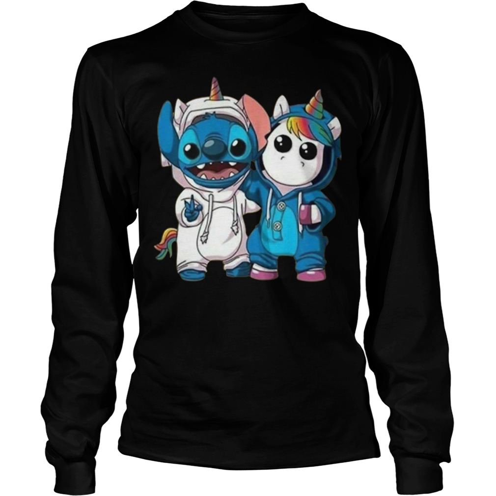 Baby Unicorn and Stitch best friend Longsleeve Tee
