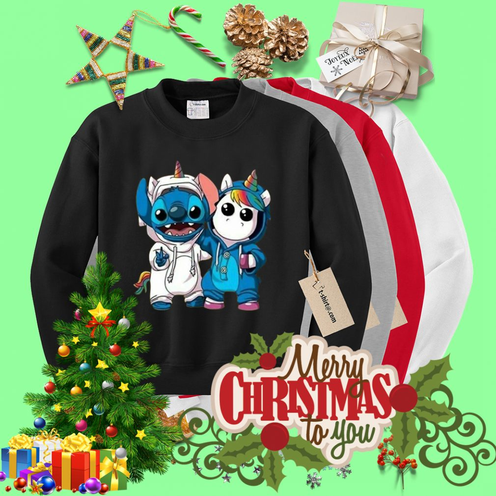 Baby Unicorn and Stitch best friend Sweater
