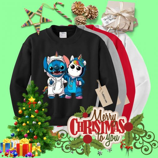 Baby Unicorn and Stitch best friend Sweater