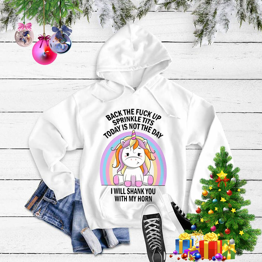 Baby Unicorn back the fuck up sprinkle tits today is not the day Sweater