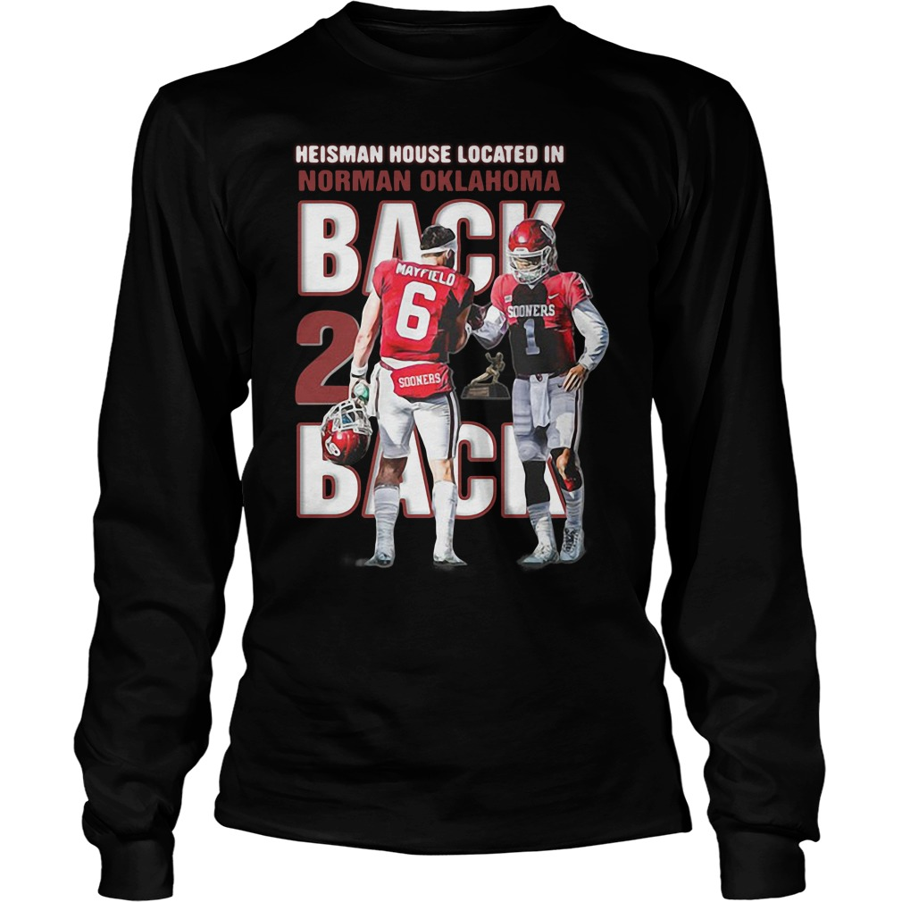 Baker Mayfield Heisman house located in Norman Oklahoma Longsleeve Tee