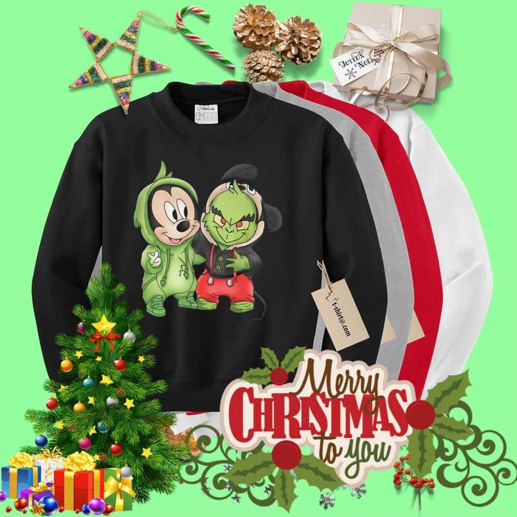 Best friend Mickey Mouse and Grinch Sweater