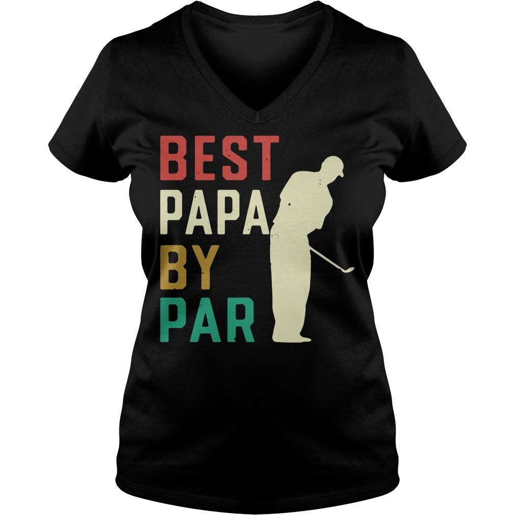 Best Papa by par V-neck T-shirt
