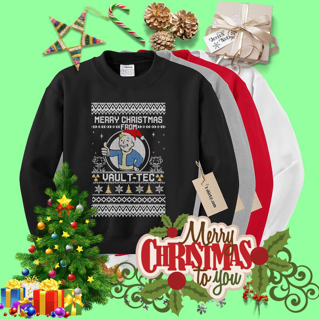 Vault Tec Christmas Sweater.Bethesda Fallout Merry Christmas Vault Tec Ugly Sweater