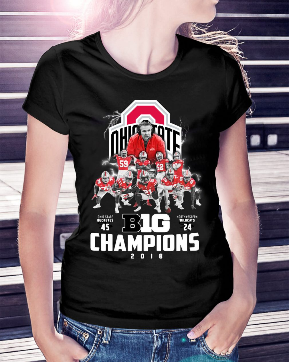 Big Champions Ohio State Buckeyes vs Northern Illinois Ladies Tee