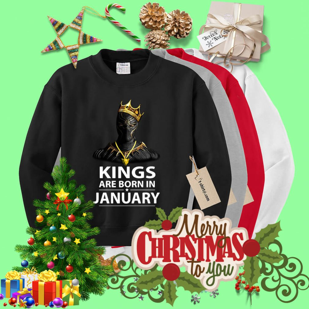 Black Panther kings are born in January Sweater