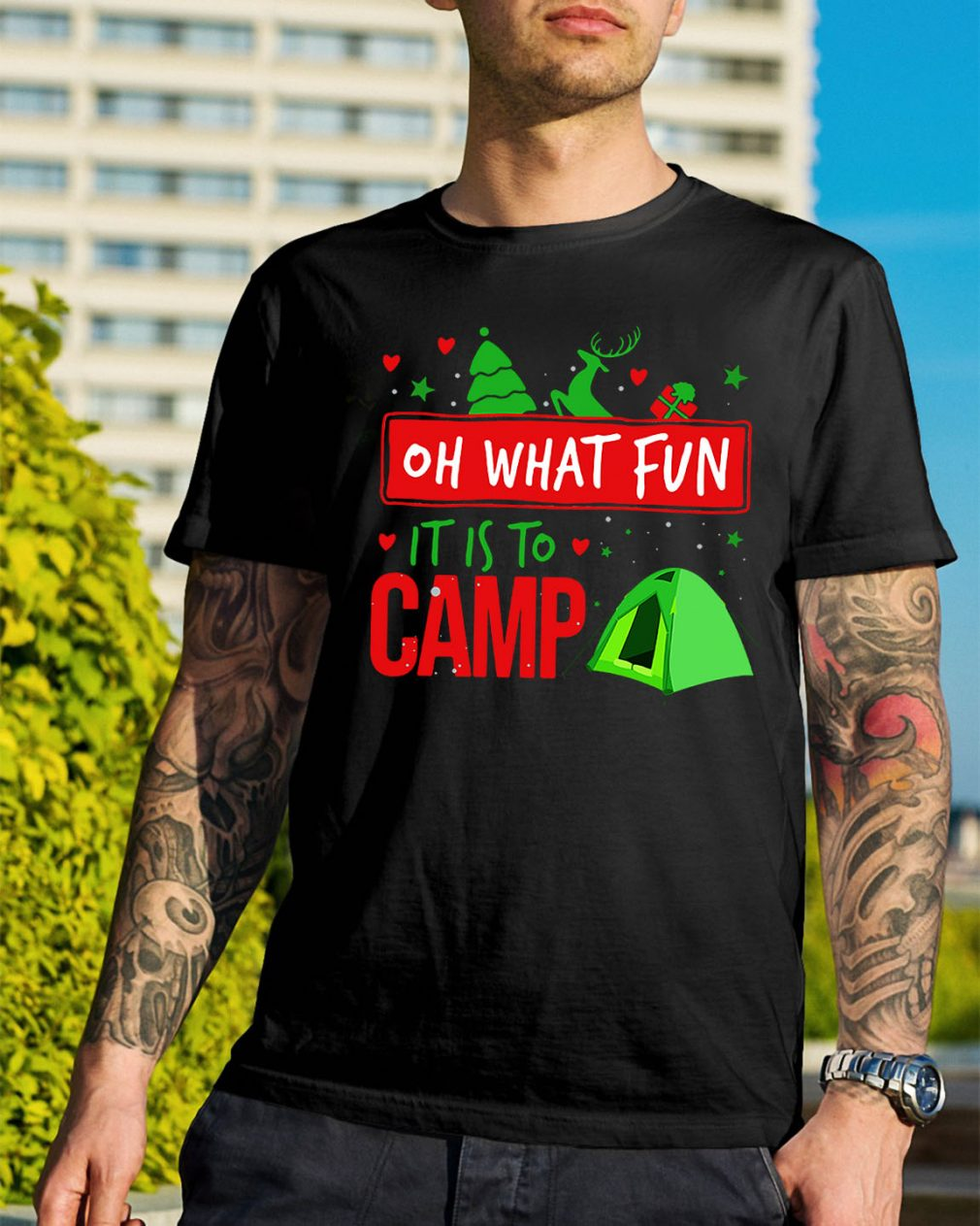 Camping oh what fun it is to camp shirt