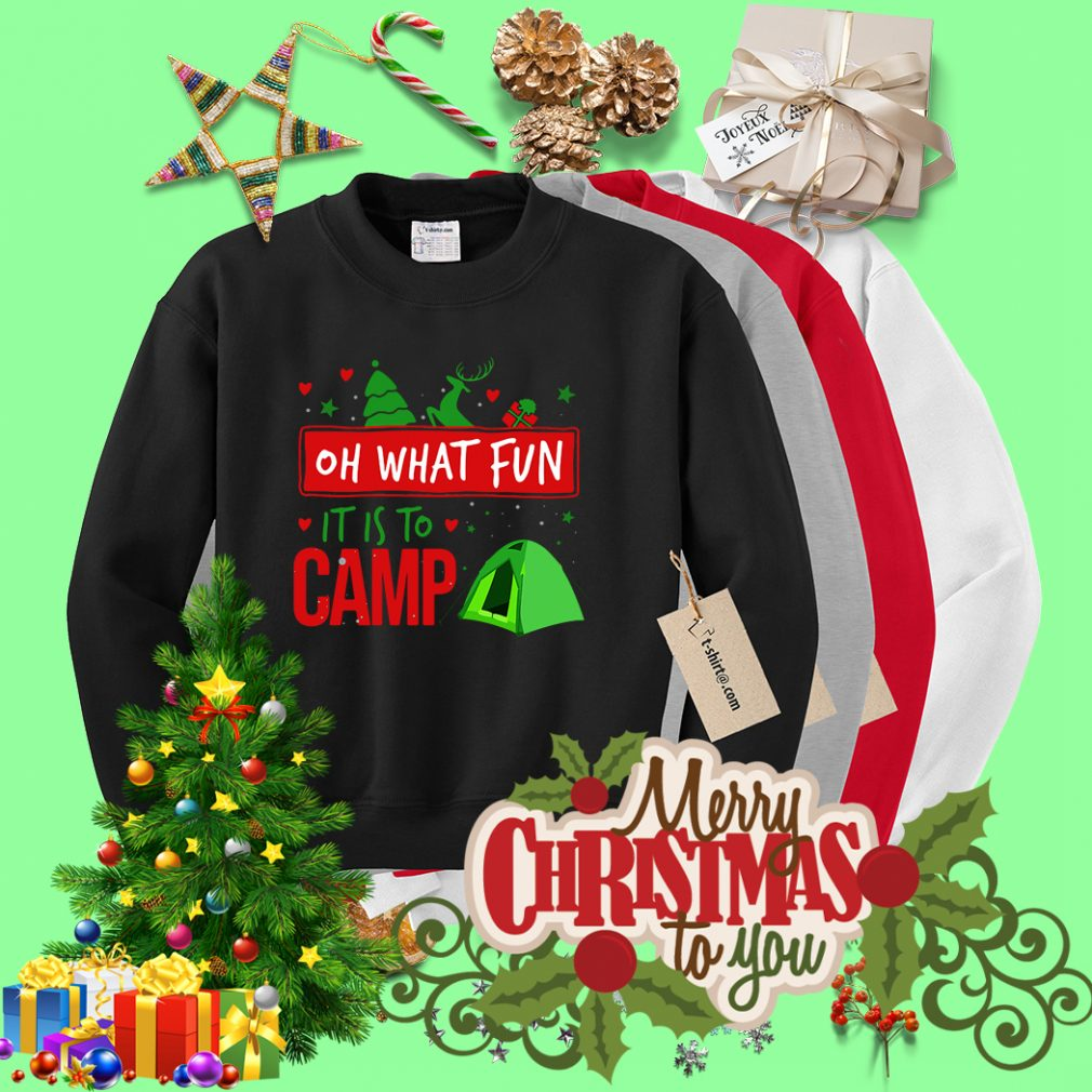 Camping oh what fun it is to camp Sweater