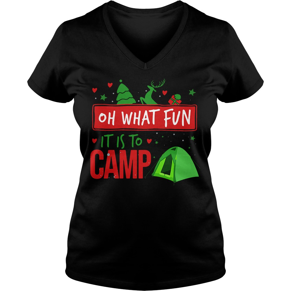 Camping oh what fun it is to camp V-neck T-shirt