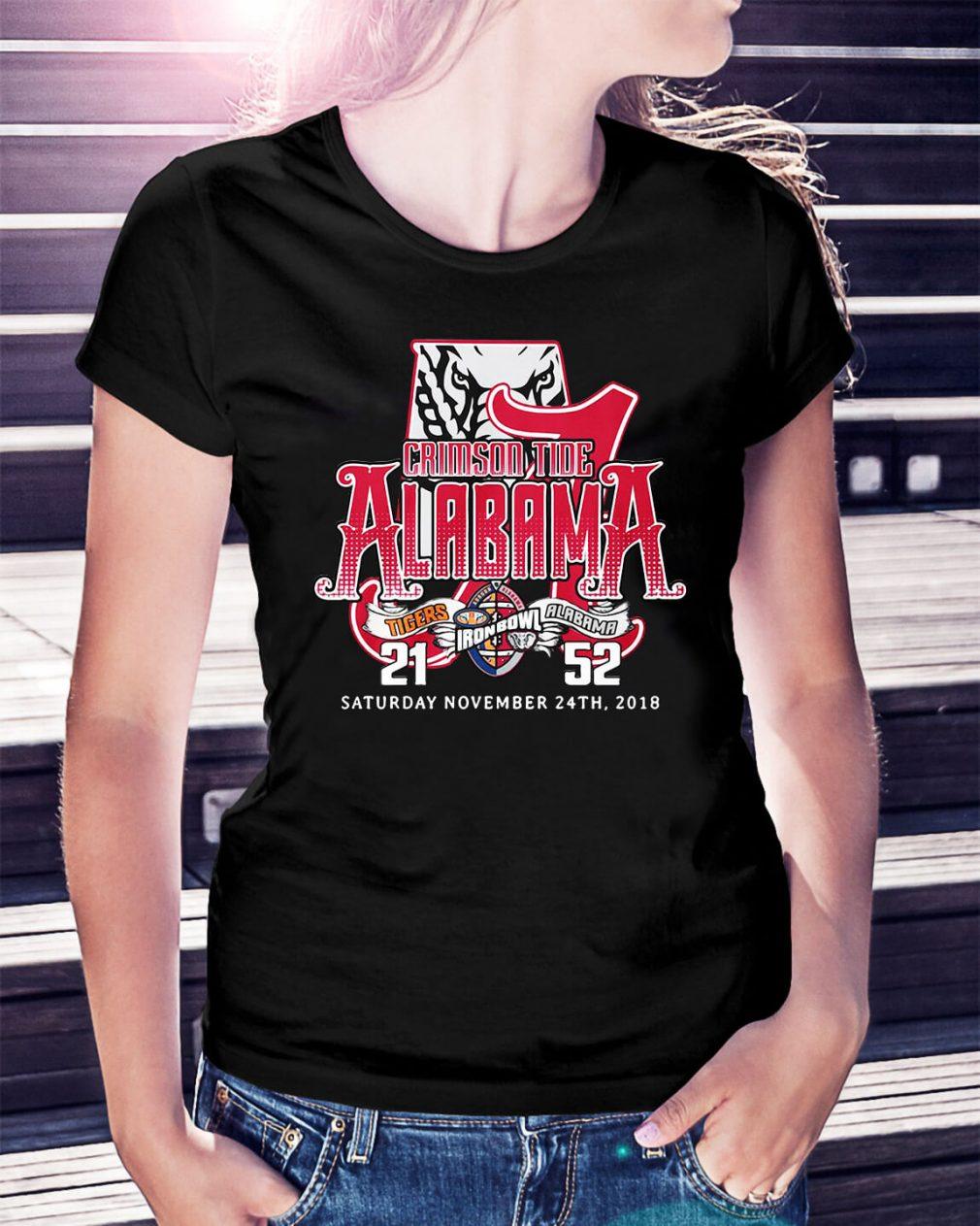 Crimson tide Alabama Saturday November 24th 2018 Ladies Tee