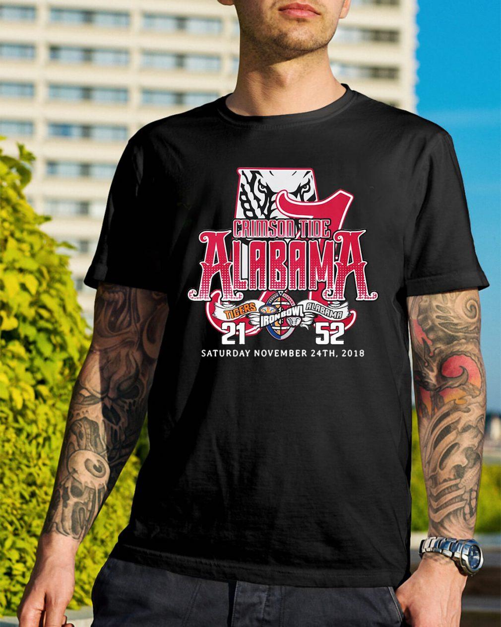 Crimson tide Alabama Saturday November 24th 2018 shirt