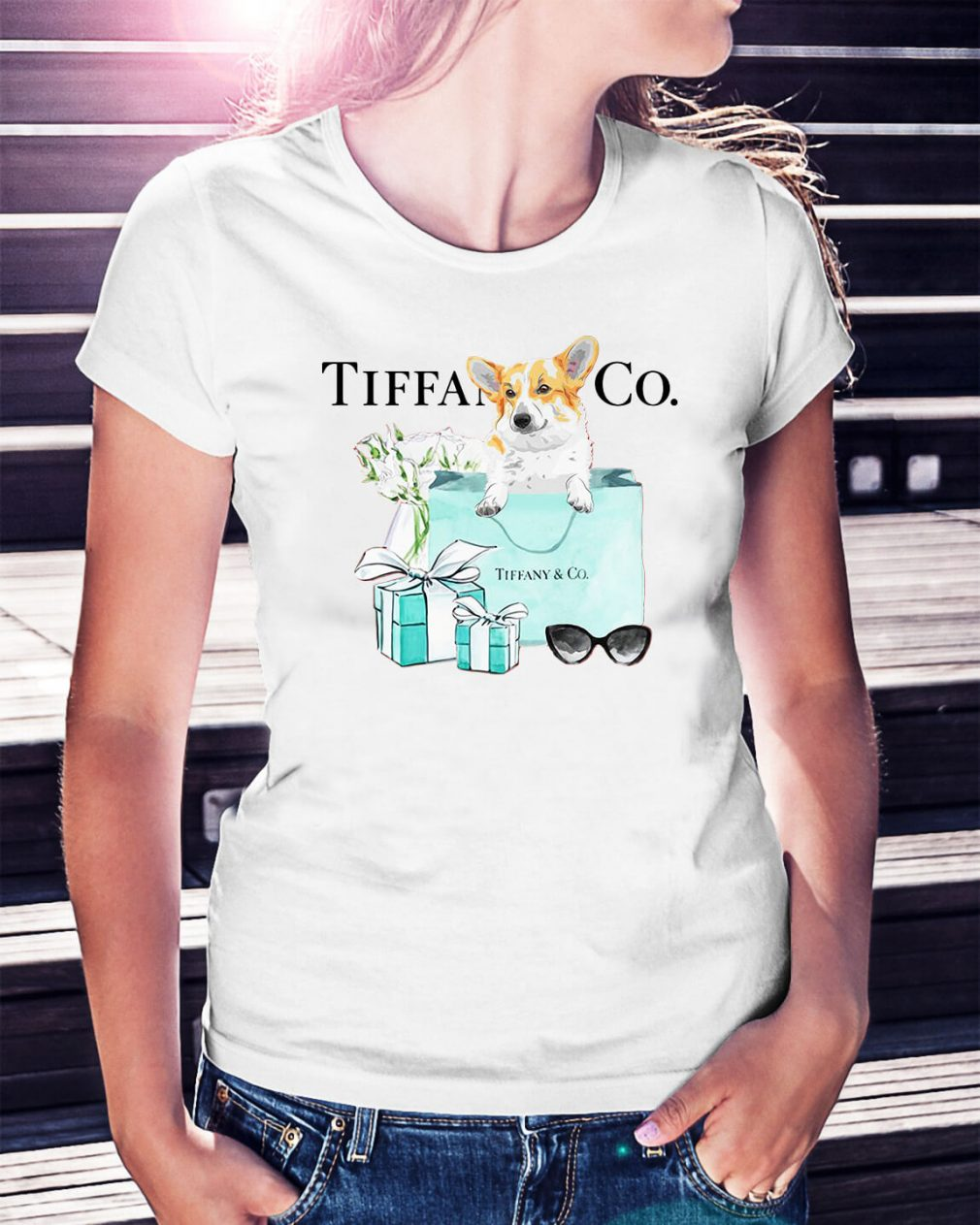 Dachshund Tiffany and CO Ladies Tee