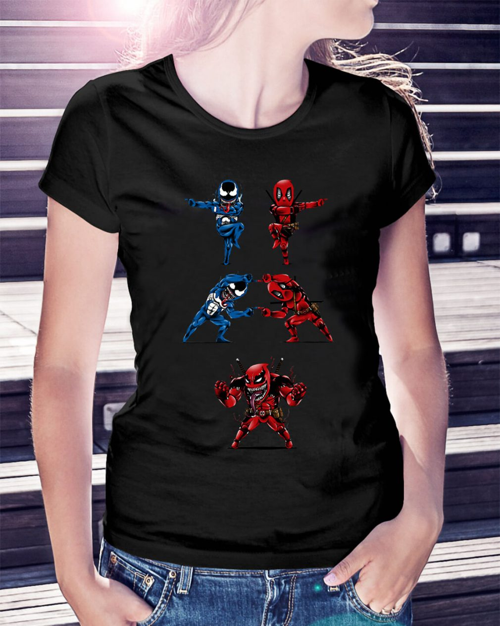 Deadpool Venom fusion Ladies Tee