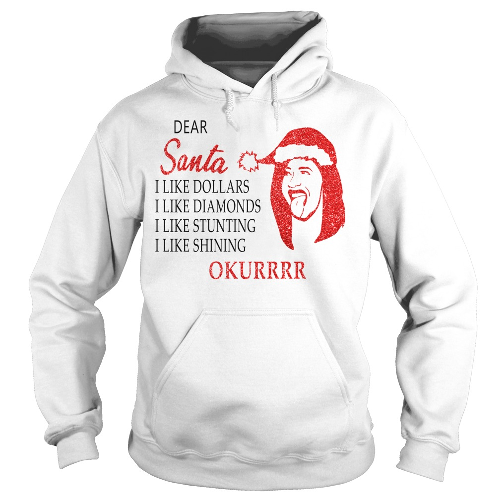 Dear Santa I like dollars I like diamonds I like stunting Okurrr Hoodie