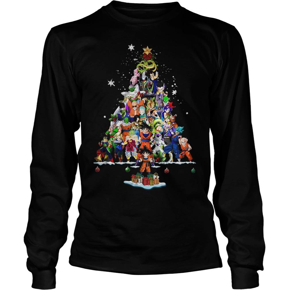 Dragon Ball Christmas tree Longsleeve Tee
