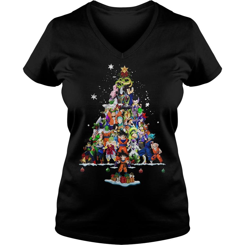 Dragon Ball Christmas tree V-neck T-shirt