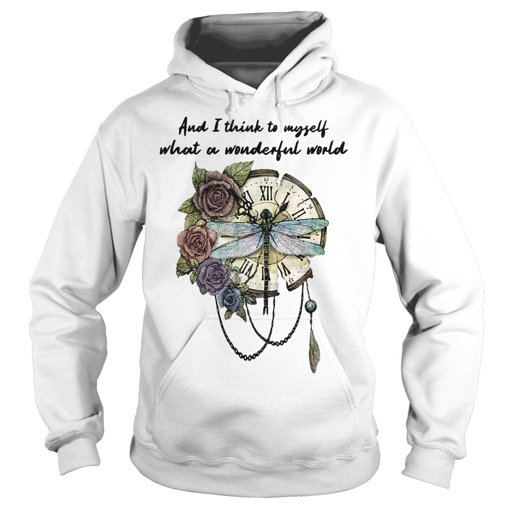 Dragonfly clock and I think to myself what a wonderful world Hoodie