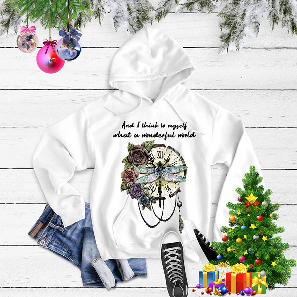 Dragonfly clock and I think to myself what a wonderful world Sweater