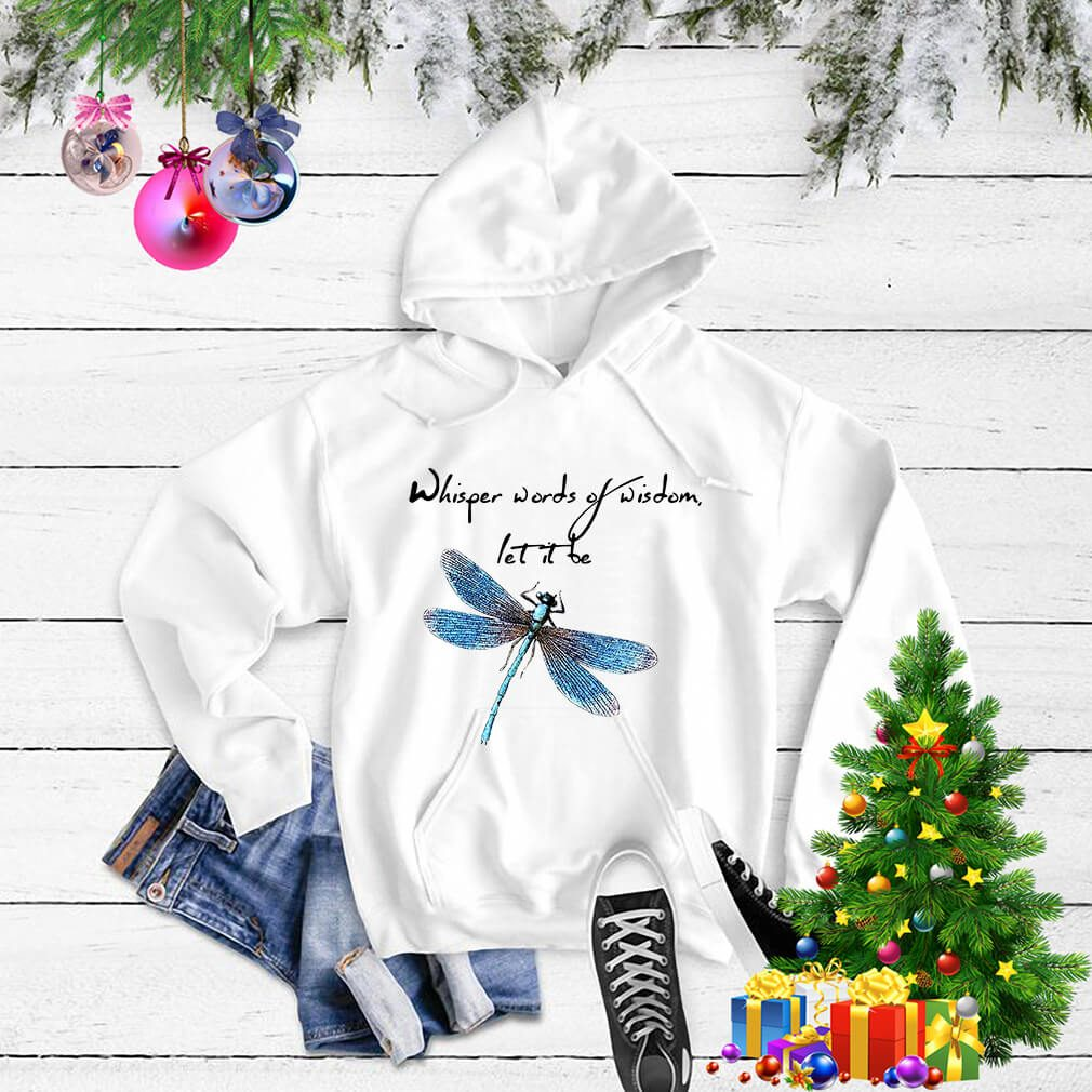 Dragonfly whisper words of wisdom let it be Happy New Year Sweater