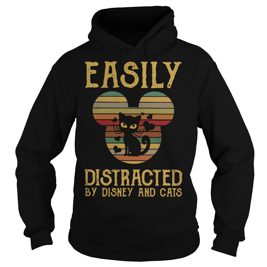 Easily distracted by Disney and cats Hoodie