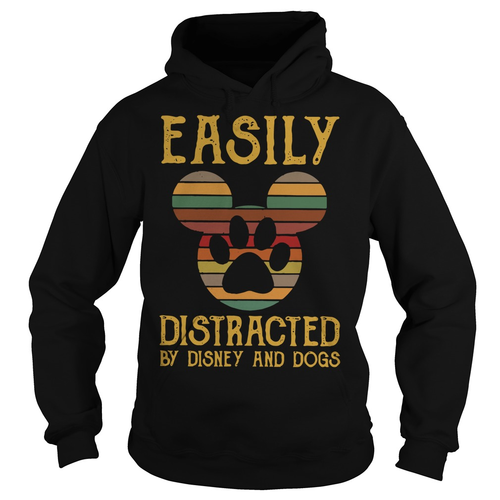 Easily distracted by Disney and dogs Hoodie