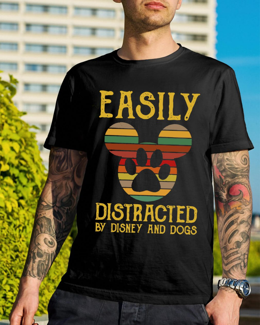 Easily distracted by Disney and dogs shirt