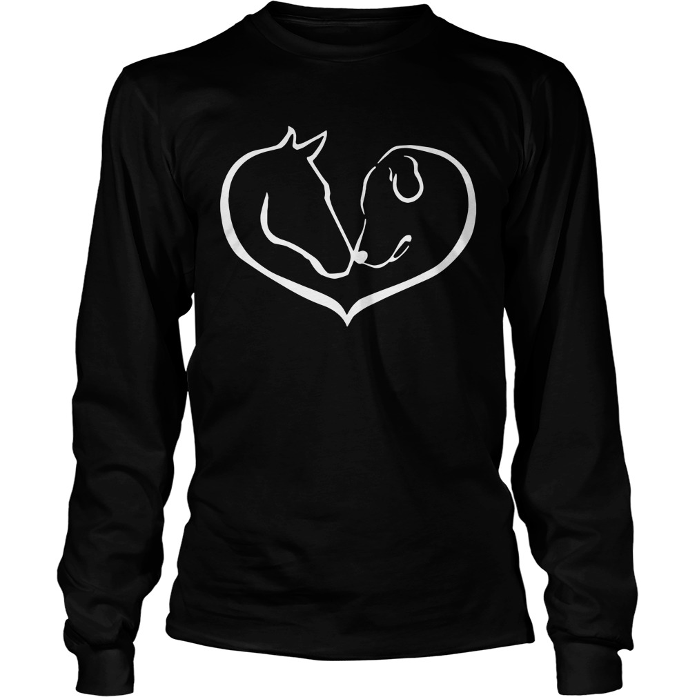 Easily distracted by Horses and dogs Longsleeve Tee