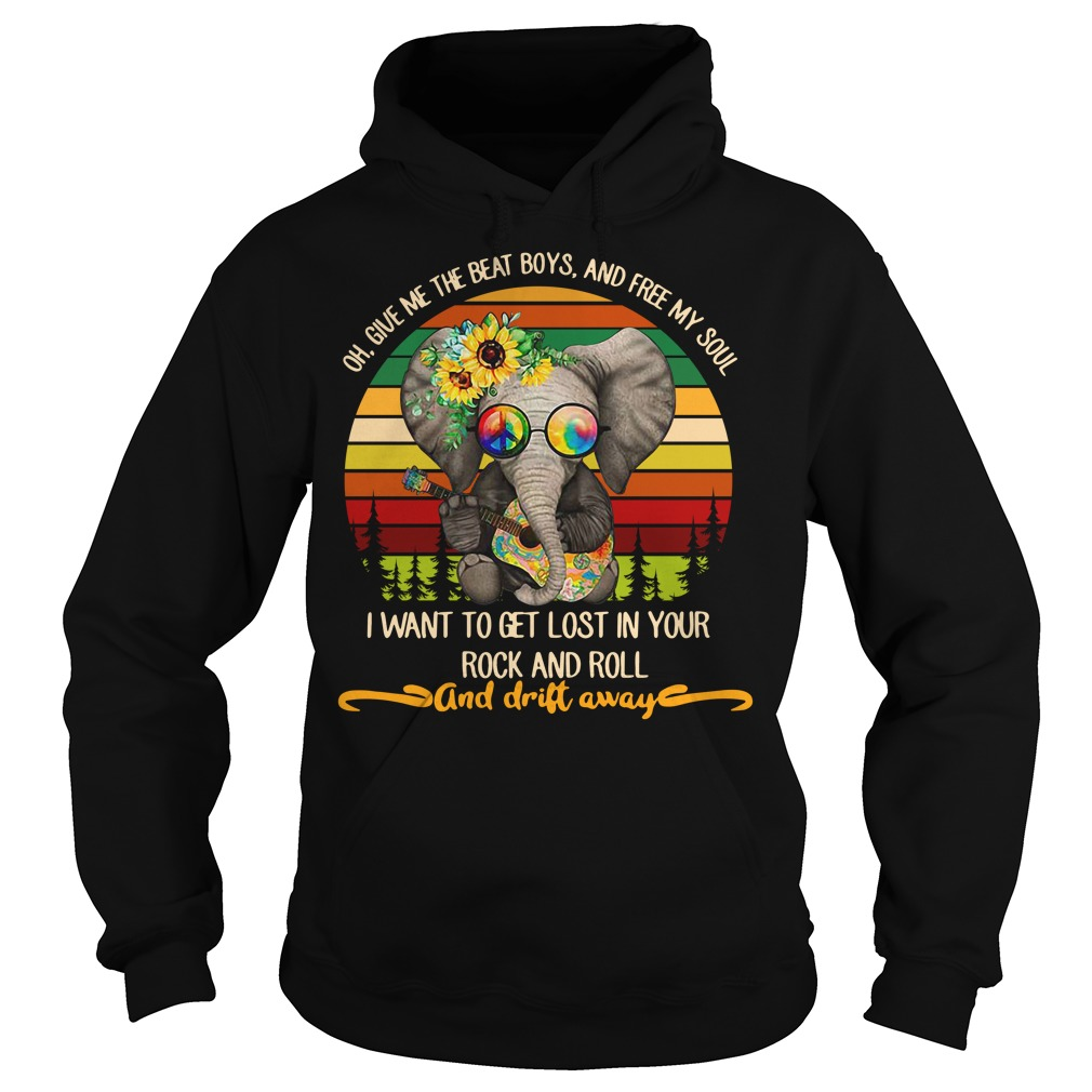 Elephant playing guitar oh give me the beat boys and free my soul Hoodie
