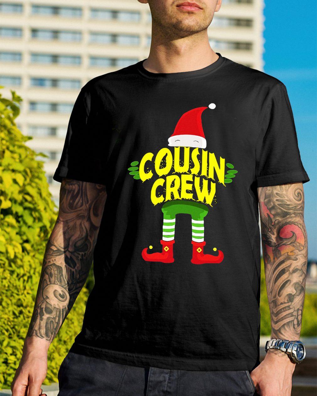 Elf Cousin Crew Christmas Guys Shirt