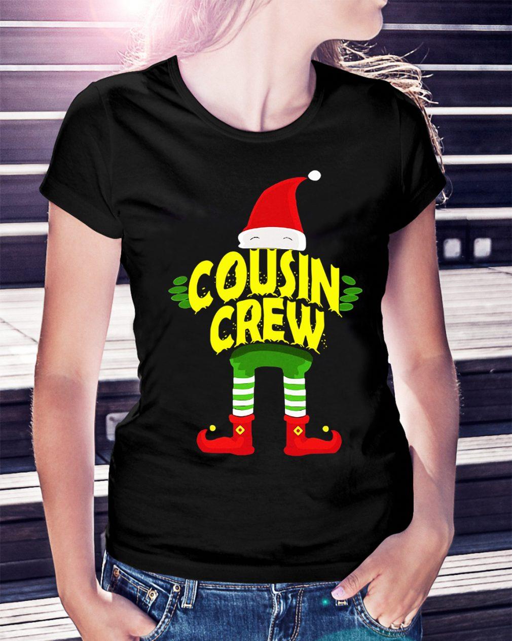 Elf Cousin Crew Christmas Ladies Tee