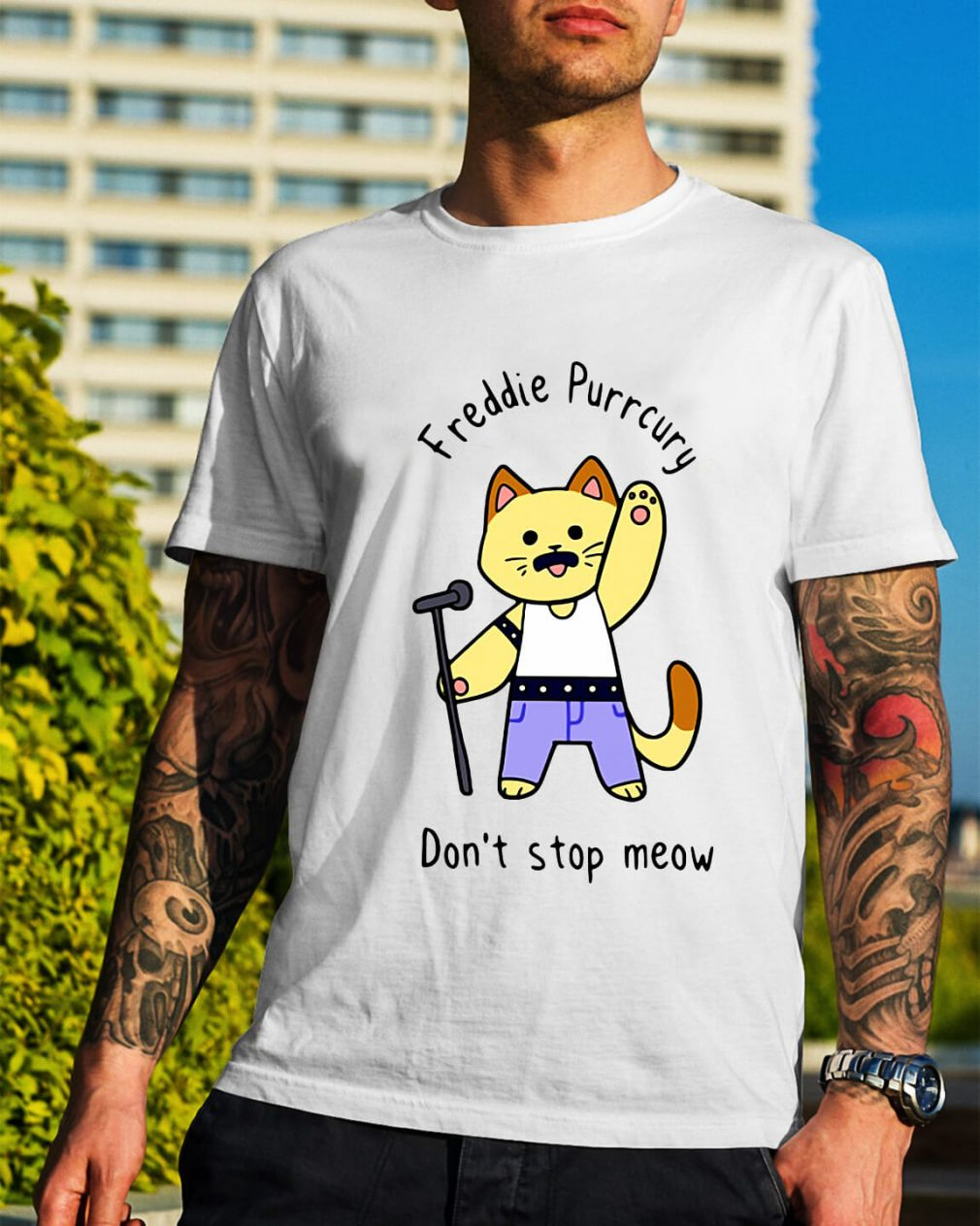 Freddie Purrcury don't stop meow Happy New Year shirt