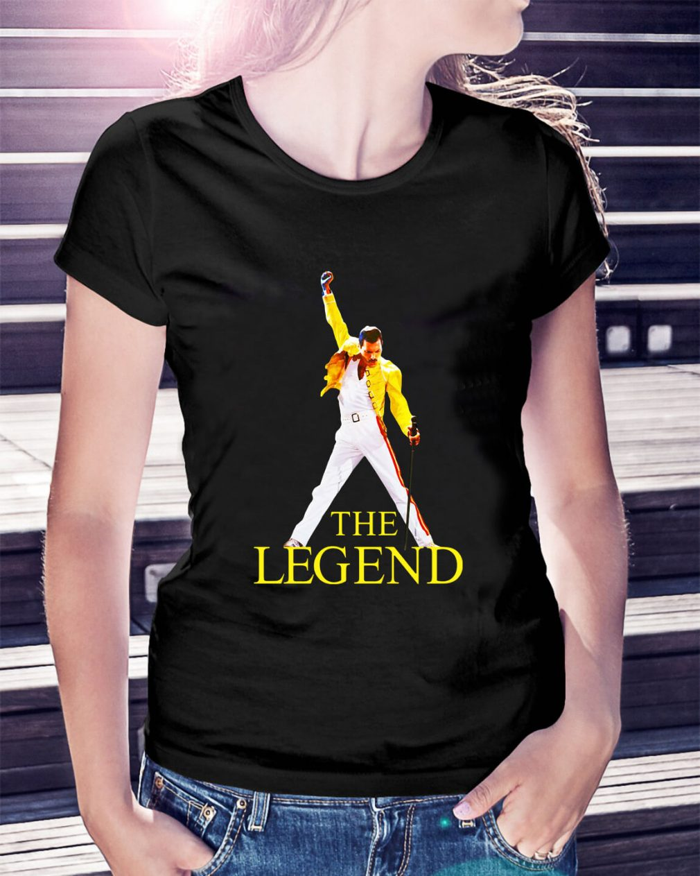 Freddie Purrcury queen the legend Ladies Tee