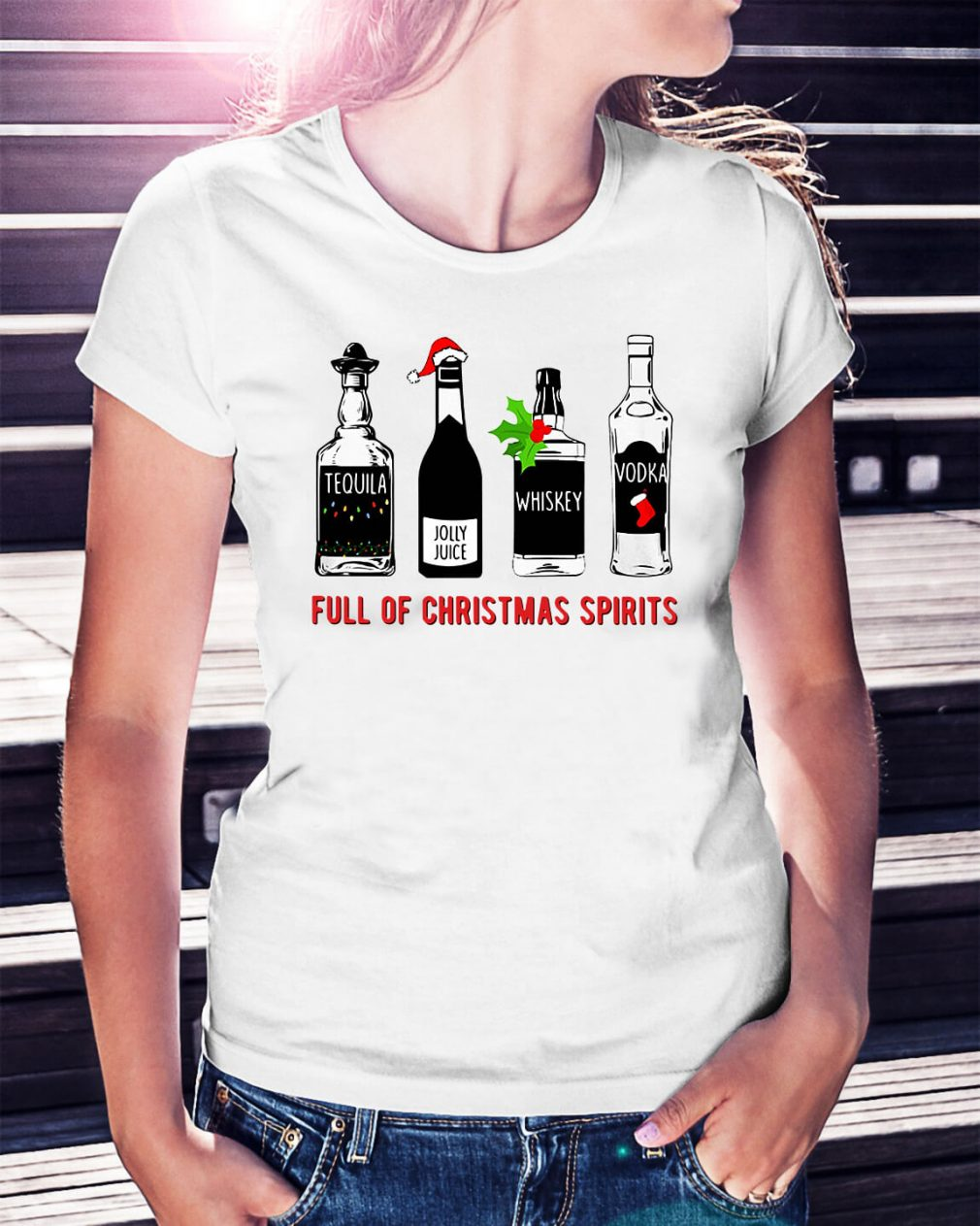 Full of Christmas Spirits Ladies Tee