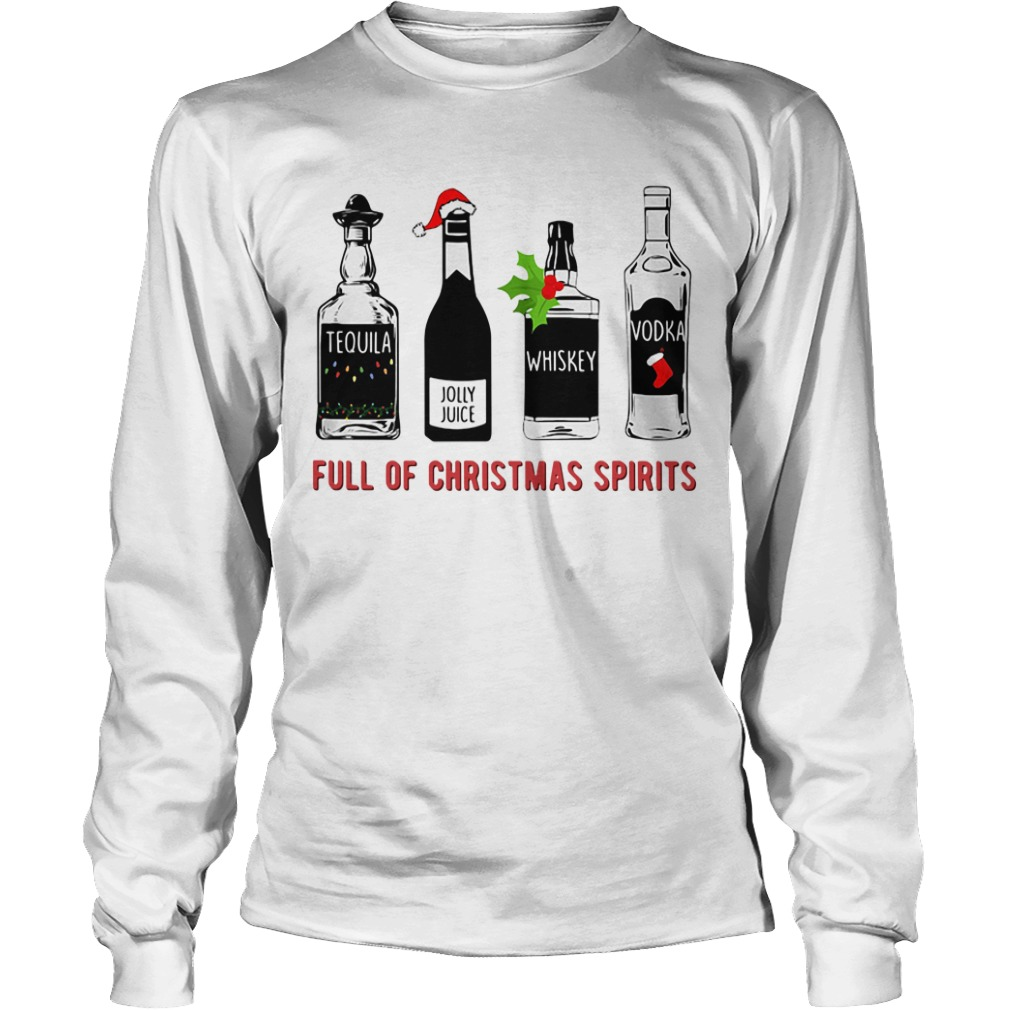 Full of Christmas Spirits Longsleeve Tee