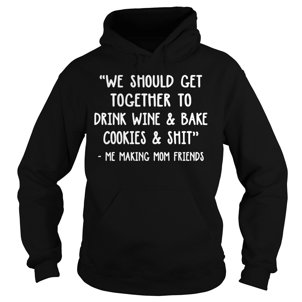 We should get together to drink wine and bake cookies and shit Hoodie