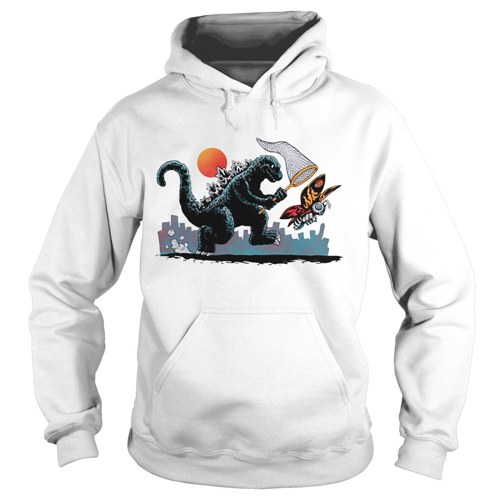 Godzilla catching Kaiju Hoodie