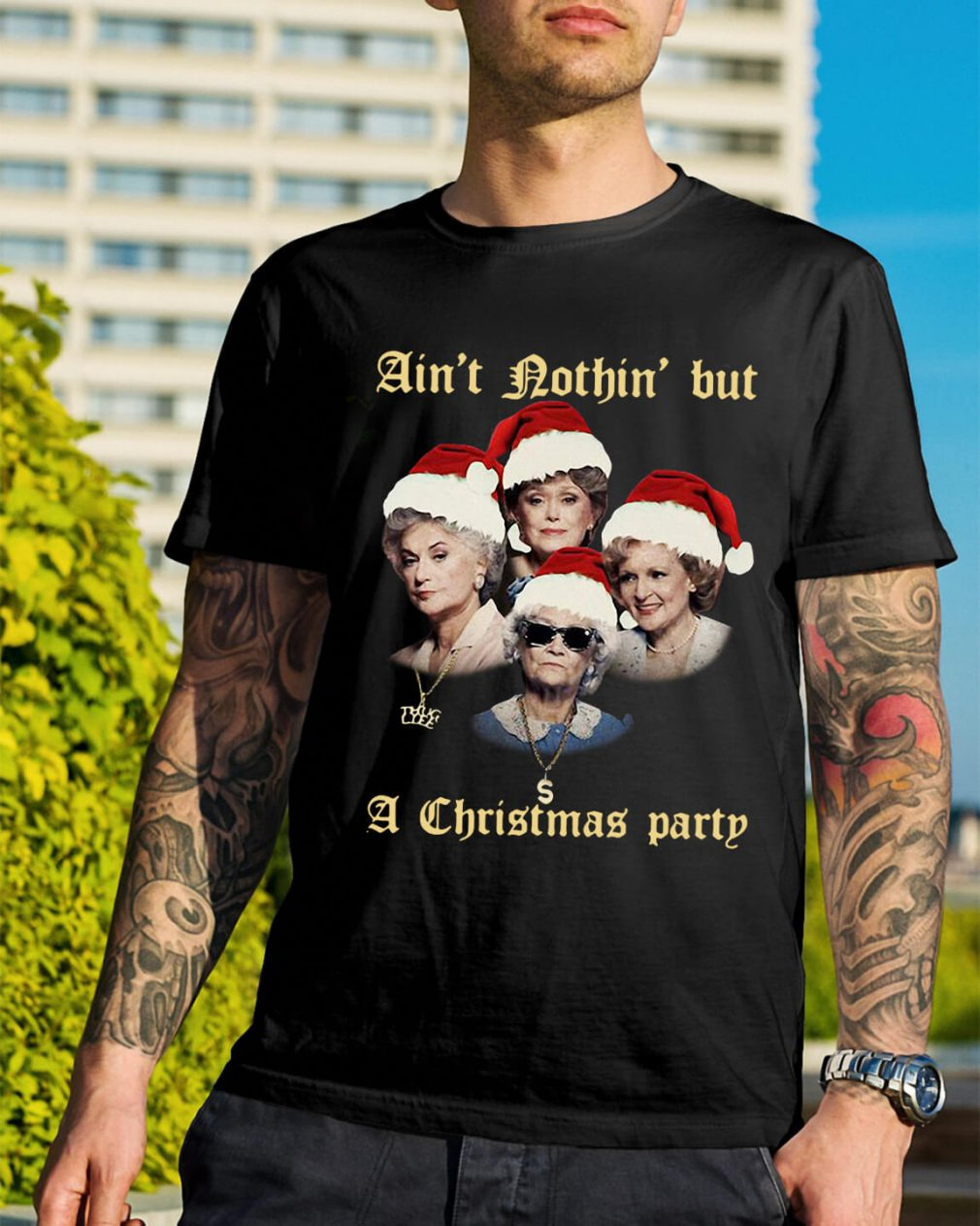 The Golden Girl ain't nothin' but a Christmas party Guys Shirt