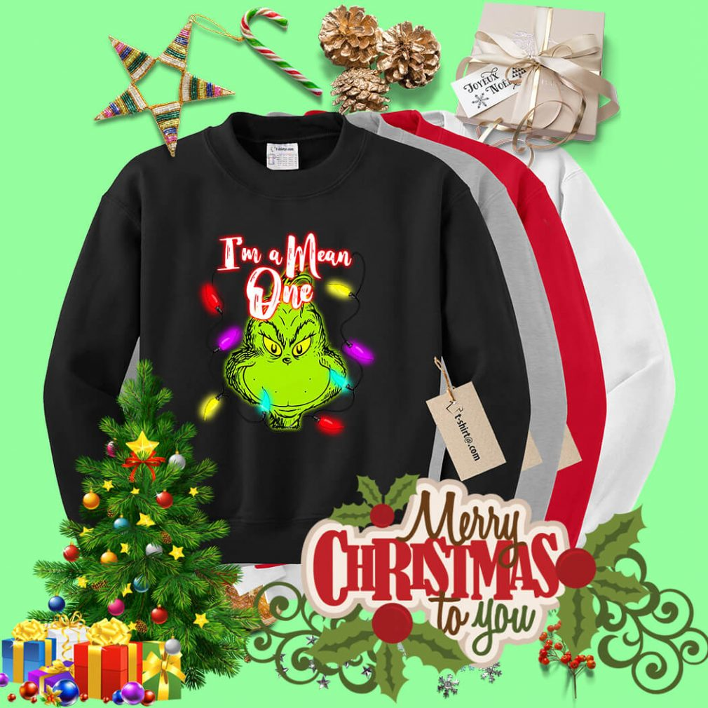 Grinch I'm a Mean one Christmas light shirt, sweater