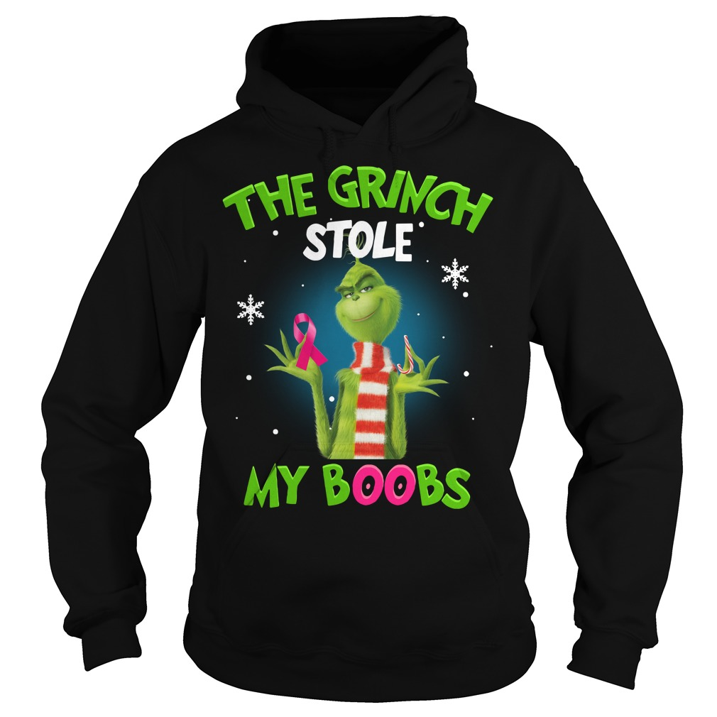 The Grinch stole my boobs Christmas Hoodie