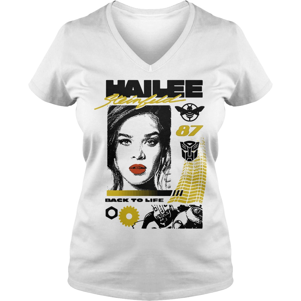 Hailee Steinfeld 87 back to life V-neck T-shirt