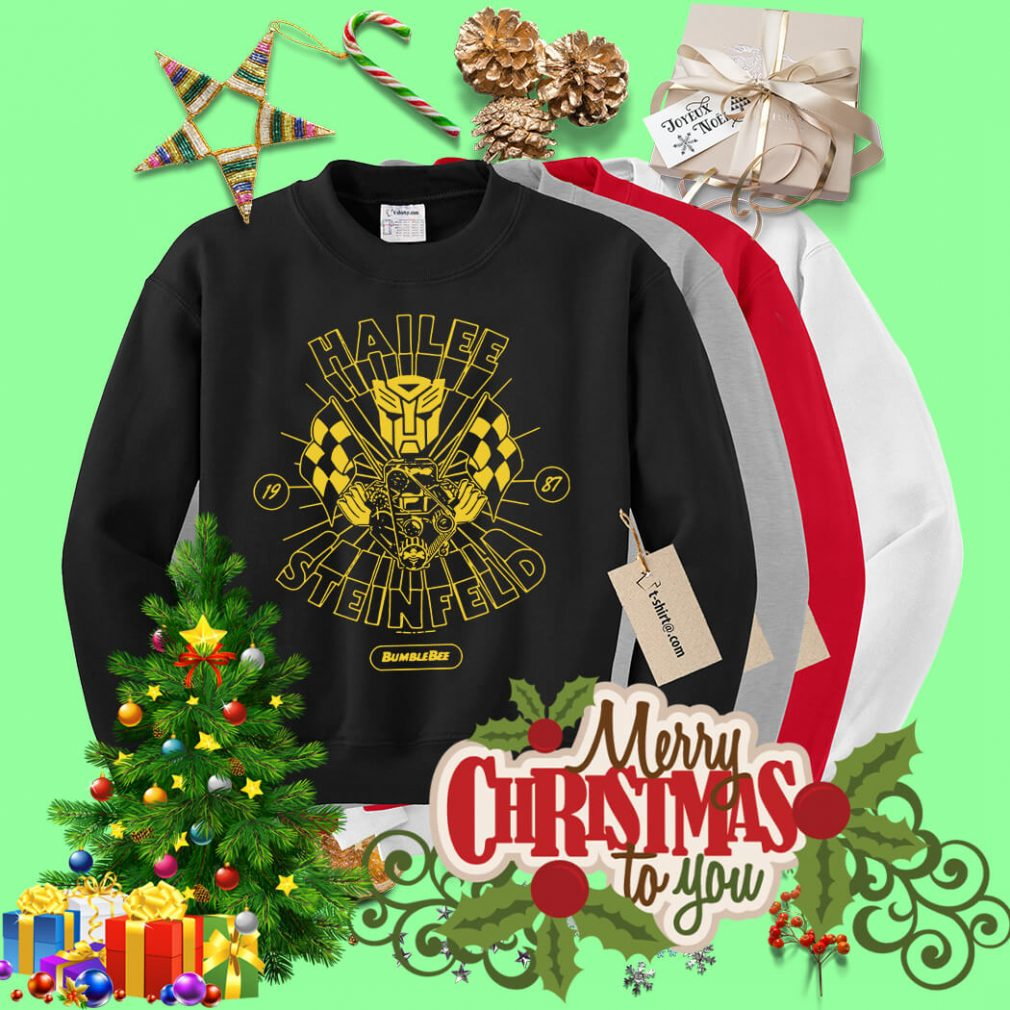 Hailee Steinfeld Bumblebee Transformers New small Promo Sweater