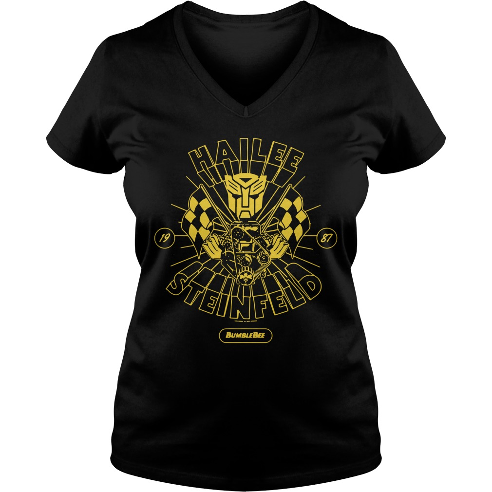 Hailee Steinfeld Bumblebee Transformers New small Promo V-neck T-shirt